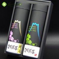 【C-6】斉藤園オリジナル 高級煎茶 特上1本/高級煎茶1本缶詰め合わせ