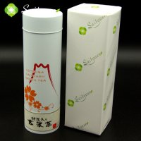 斉藤園オリジナル 抹茶入り玄米茶 150g缶入