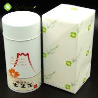 【D-10】斉藤園オリジナル 抹茶入り玄米茶 200g缶入