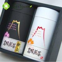 【B-6】斉藤園オリジナル 高級煎茶 特上1本/高級煎茶1本缶詰め合わせ