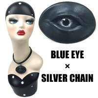 【MALICIOUS.X】CHORKER / CIRCLE EYE-BLACK 01(BLUE EYE/SILVER CHAIN)