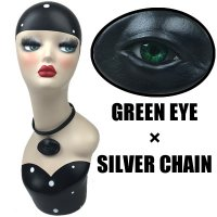 【MALICIOUS.X】CHORKER / CIRCLE EYE-BLACK 02(GREEN EYE/SILVER CHAIN)