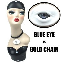 【MALICIOUS.X】CHORKER / CIRCLE EYE-WHITE 01(BLUE EYE/GOLD CHAIN)