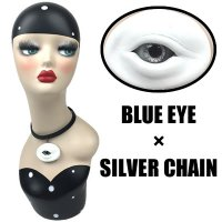 【MALICIOUS.X】CHORKER / CIRCLE EYE-WHITE 02(BLUE EYE/SILVER CHAIN)