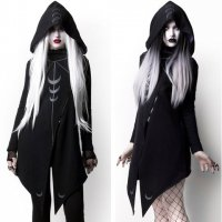 【ROGUE+WOLF】MDF-02:MOON SEER CARDIGAN WITH OVERSIZED HOOD