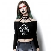 【ROGUE+WOLF】MDF-03:MOONS ARE THE SHIT CROP TOP