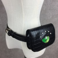 【MALICIOUS.X】CAT EYE WAIST BAG / GREEN