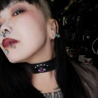 【MALICIOUS.X】EYE BELT CHOKER-PURPLE EYE