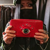 【MALICIOUS.X】EYE WALLET LONG(RED) / GREEN+BLUE