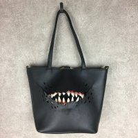 【MALICIOUS.X】CREATURE(BLACK) TOTE&SHOULDER BAG