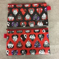 【MAI AIMHEART】RED AND BLACK HEART POUCH