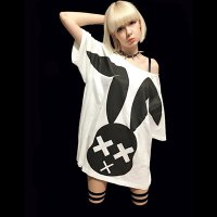 【FAR STAR】BIG フィッシュテイルTシャツ(XXX RABBIT DERA BIG T/WHITE)