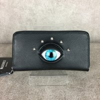 【MALICIOUS.X】EYE WALLET LONG / BLUE(SOFT VEGAN LEATHER)