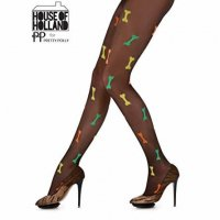 【HOUSE OF HOLLAND】ALL OVER BONES TIGHTS - MULTI//TR