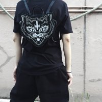 <img class='new_mark_img1' src='//img.shop-pro.jp/img/new/icons20.gif' style='border:none;display:inline;margin:0px;padding:0px;width:auto;' />【BLACK CRAFT】HELL CAT - SMALL BACKPACK