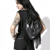【BLACK CRAFT】TRIPLE MOON FRINGE BACKPACK