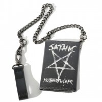 【BLACK CRAFT】SATANIC MOTHERFUCKER - TRIFOLD CHAIN WALLET