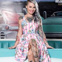 5B1/2【SOURPUSS】CAROUSEL ROSES SWEETS DRESS