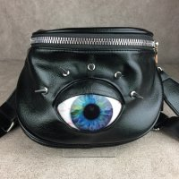 【MALICIOUS.X】EYE BIG BODY BAG / BLUE MARBLE