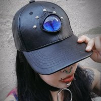 【MALICIOUS.X】EYE CAP-CAT/BLUE