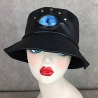 【MALICIOUS.X】EYE BUCKET HAT/CAT SMOKE BLUE