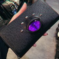 【MALICIOUS.X】EYE WALLET LONG/CAT VIOLET MARBLE(SAFFIANO)