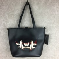 【MALICIOUS.X】CAT FANG(BLACK) TOTE&SHOULDER BAG