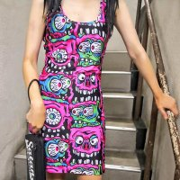 5B1/2【SOURPUSS】PINK FINK TANK DRESS