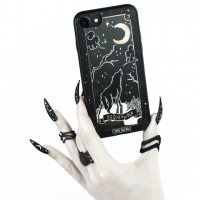 【ROGUE+WOLF】THE MOON TAROT GOLD PHONE CASE