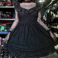 <img class='new_mark_img1' src='//img.shop-pro.jp/img/new/icons3.gif' style='border:none;display:inline;margin:0px;padding:0px;width:auto;' />【KILL STAR】BEWITCHED LACE DRESS(XS-4XL)