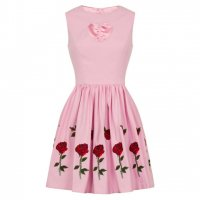 【HELL BUNNY】4795:ROSA ROSSA MINI DRESS(XS-XL)