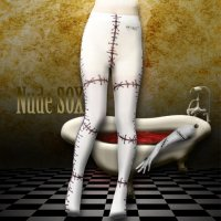 【NUDE SOX】MDT-002 MAD SCIENCE TIGHTS<縫い傷/SEWING WOUND>