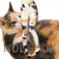 【NUDE SOX】MDT-011 MAD SCIENCE TIGHTS<三毛猫/CALICO CAT>