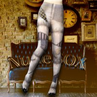 【NUDE SOX】MDT-014 MAD SCIENCE TIGHTS<ヴィンテージクラッシュドール/VINTAGE CRASH DOLL>