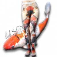 【NUDE SOX】MDT-016 MAD SCIENCE TIGHTS<錦鯉/COLORED CARP>