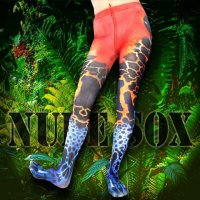 【NUDE SOX】MDT-017 MAD SCIENCE TIGHTS<アマゾン毒ガエル/POISON DART FROG>