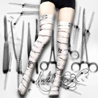 【NUDE SOX】MDN-001 MAD SCIENCE KNEE HIGH SOCKS<包帯/BANDAGE>