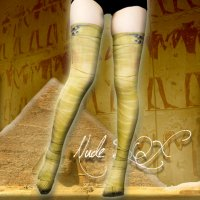 【NUDE SOX】MDN-004 MAD SCIENCE KNEE HIGH SOCKS<ファラオ包帯/PHARAOH BANDAGE>