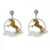 <img class='new_mark_img1' src='//img.shop-pro.jp/img/new/icons3.gif' style='border:none;display:inline;margin:0px;padding:0px;width:auto;' />【COLLECTIF】ピアス-DREAMING UNICORN EARRINGS