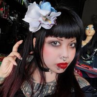【COLLECTIF】AALIYAH ORCHID HAIR FLOWER-GREY