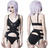 <img class='new_mark_img1' src='https://img.shop-pro.jp/img/new/icons20.gif' style='border:none;display:inline;margin:0px;padding:0px;width:auto;' />【KILL STAR】BLACKOUT BODYSUIT SET(XS-XXL)