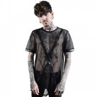 <img class='new_mark_img1' src='https://img.shop-pro.jp/img/new/icons20.gif' style='border:none;display:inline;margin:0px;padding:0px;width:auto;' />【KILL STAR】EXECUTION FISHNET T-SHIRT(UNISEX/XS-XXL)