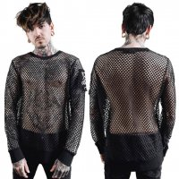 <img class='new_mark_img1' src='https://img.shop-pro.jp/img/new/icons20.gif' style='border:none;display:inline;margin:0px;padding:0px;width:auto;' />【KILL STAR】SYD FISHNET TOP(UNISEX/XS-XXL)