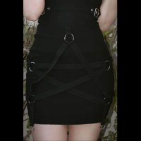 <img class='new_mark_img1' src='//img.shop-pro.jp/img/new/icons3.gif' style='border:none;display:inline;margin:0px;padding:0px;width:auto;' />【KILL STAR】HARNESS UR POWER MINI SKIRT(XS-XXL)