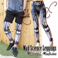 【NUDE SOX】MDL-002 MAD SCIENCE LEGGINGS<機械/MACHINE>
