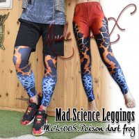 【NUDE SOX】MDL-005  MAD SCIENCE LEGGINGS<アマゾン毒ガエル/POISON DART FROG>