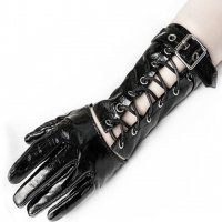 3B1F【PUNK RAVE】WS-383:PVC CORSET GAUNTLET GLOVES