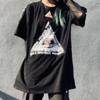 【MALICIOUS.X】EYE TRIANGLE LOGO BIG T-SHIRT / BLACK