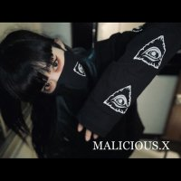 【MALICIOUS.X】LONG SLEEVE EYES T-SHIRT / BLACK