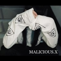 【MALICIOUS.X】LONG SLEEVE EYES T-SHIRT / WHITE